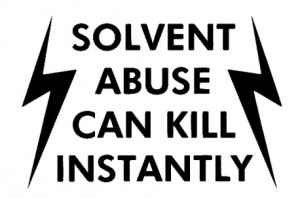 solvent abuse can kill instantly logo